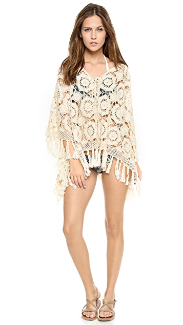 Miss June Crochet Tassel Tunic Cover Up