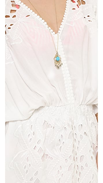 Miss June Palm Beach Eyelet Tunic Cover Up