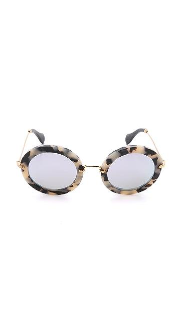 Miu Miu Круглые солнцезащитные очки