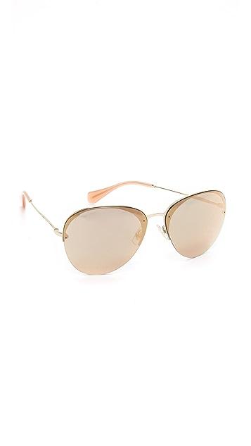 d35ae8c46 Miu Miu Mirrored Aviator Sunglasses | SHOPBOP