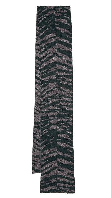 Marc Jacobs Zebra Print Cashmere Scarf