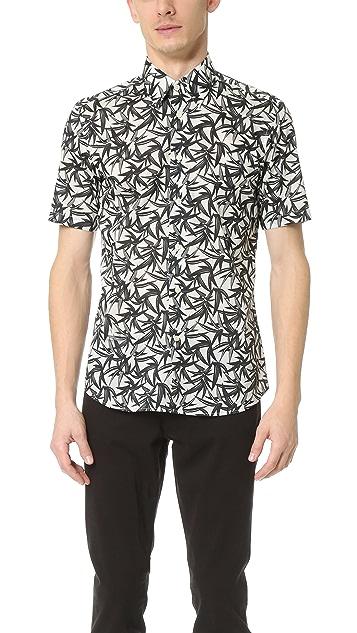 Marc Jacobs Layered Leaf Short Sleeve Shirt