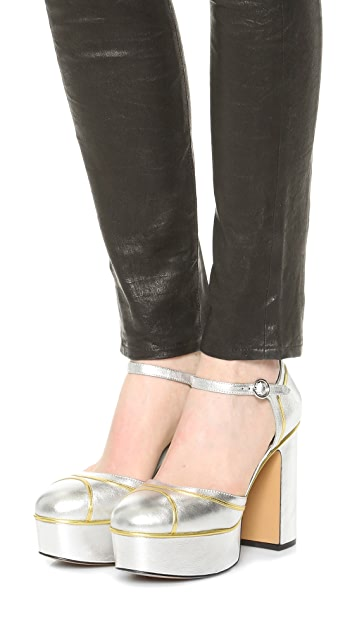 Marc Jacobs Edie Mary Jane Platform Pumps