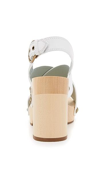 Marc Jacobs Клоги Linda с перекрещенными ремешками