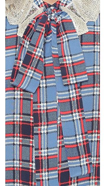 Marc Jacobs Sequin Collar Silk Tunic