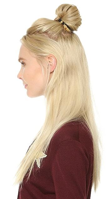 Marc Jacobs Резинка для волос Heels, украшенная искусственным жемчугом