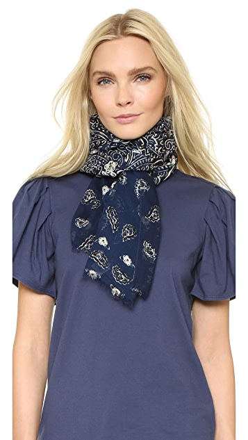 Marc Jacobs Paisley Scarf