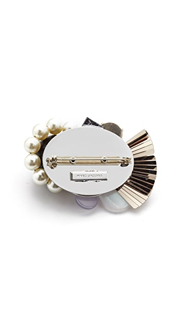 Marc Jacobs Flower Oversized Brooch with Imitation Pearls