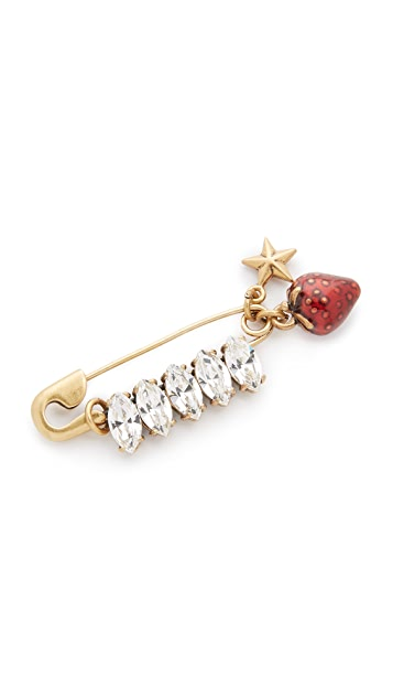 Marc Jacobs Safety Strawberry Brooch