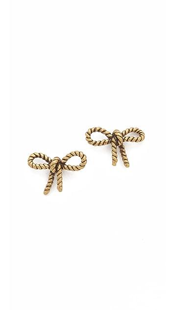 Marc Jacobs Rope Bow Stud Earrings