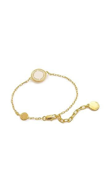 Marc Jacobs Enamel Logo Disc Bracelet