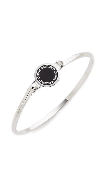 Marc Jacobs Enamel Logo Disc Hinge Bracelet