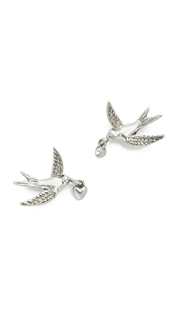 Marc Jacobs Swallow Stud Earrings