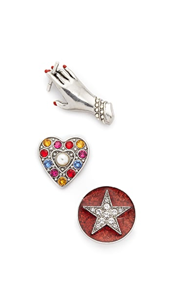Marc Jacobs Hand Brooch Set