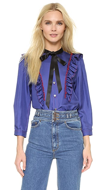 Marc Jacobs Ruffle Button Up