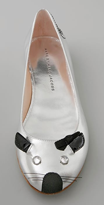 Marc by Marc Jacobs Shoes Metallic Mouse Flat