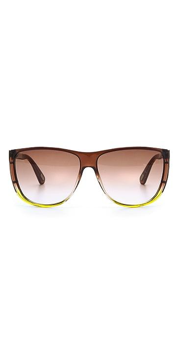 Marc Jacobs Sunglasses Flat Top Ombre Sunglasses