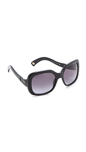 Marc Jacobs Sunglasses Black Crystal Statement Sunglasses