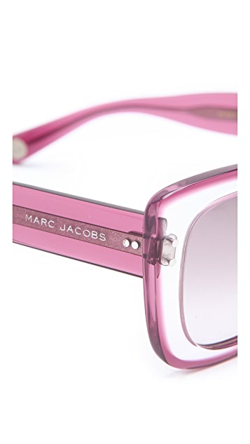 Marc Jacobs Sunglasses Translucent Cat Eye Sunglasses