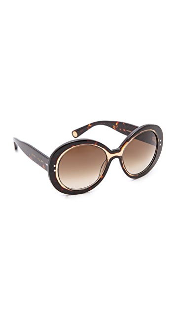 Marc Jacobs Sunglasses Translucent Round Sunglasses