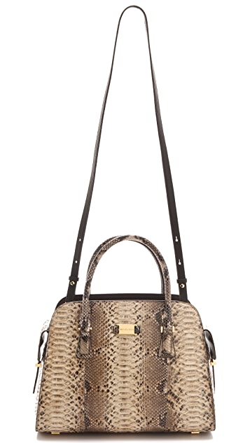 Michael Kors Collection Python Gia Satchel