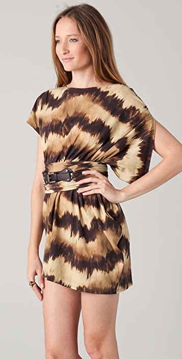 Michael Kors Collection Languid Striped Asymmetrical Cover Up Dress