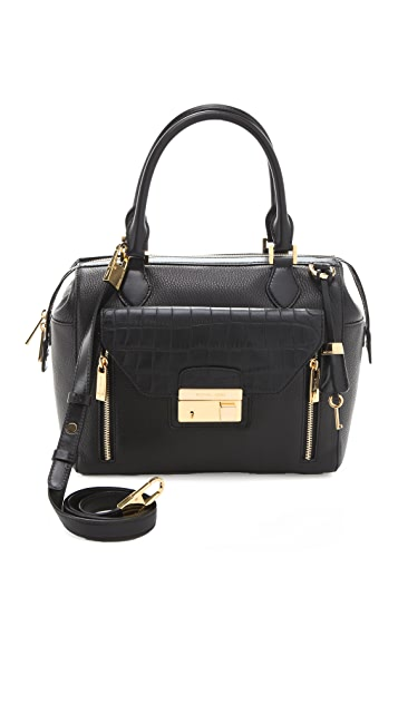 Michael Kors Collection Gia Top Zip Satchel