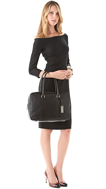 Michael Kors Collection Silverton Zip Top Traveler