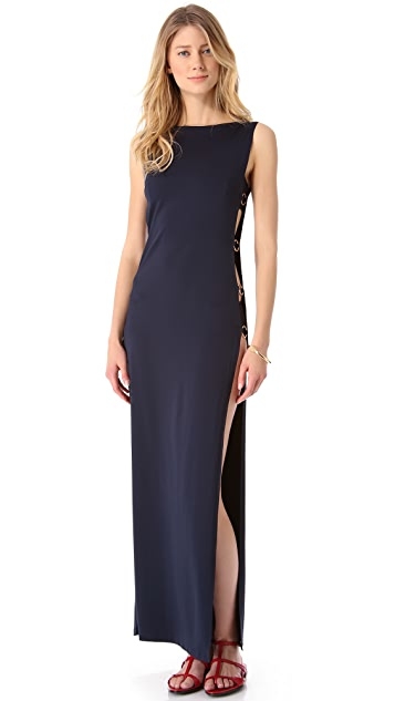 Michael Kors Collection Ring Solids Cover Up Dress