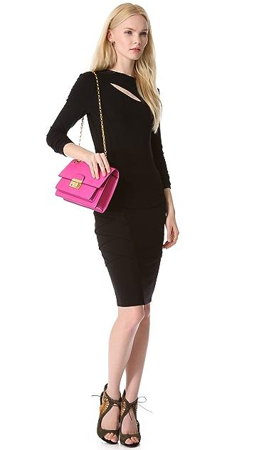 Michael Kors Collection Gia Shoulder Flap Handbag