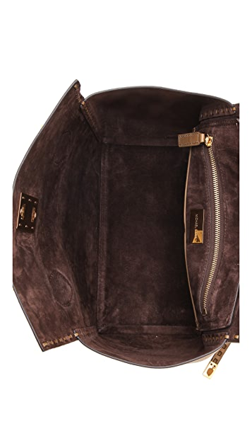 Michael Kors Collection Miranda Leather Stitch Tote