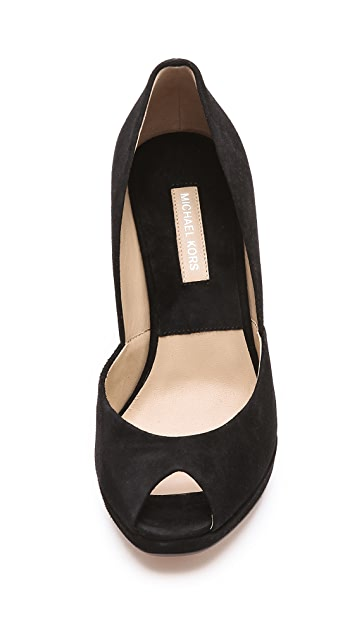 Michael Kors Collection Vail Peep Toe Pumps