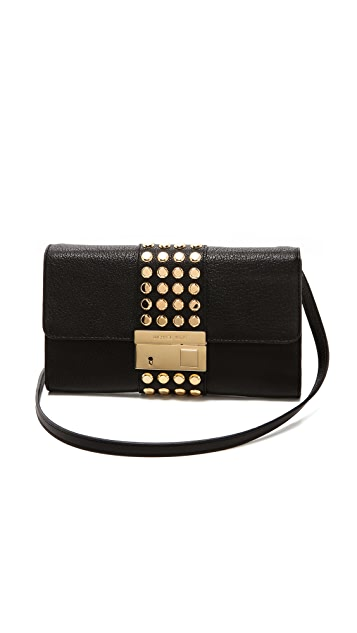 Michael Kors Collection Gia Stud Clutch with Lock