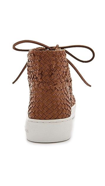 Michael Kors Collection Verna Woven High Top Sneakers