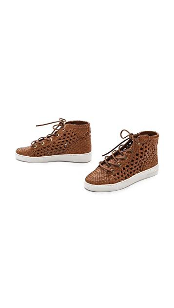 Michael Kors Collection Verna Woven High Top Sneakers