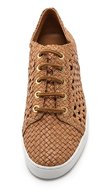 Michael Kors Collection Violet Woven Low Top Sneakers