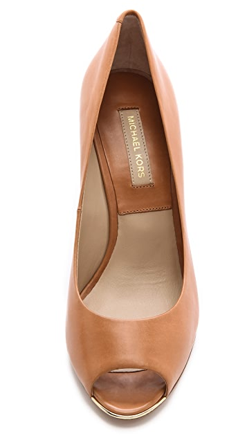 Michael Kors Collection Valari Peep Toe Wedges