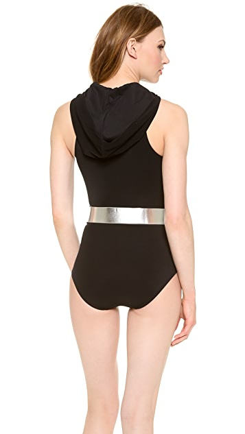 Michael Kors Collection Bond Solids One Piece with Hood
