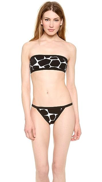 Michael Kors Collection Giraffe Print Bandeau Bikini