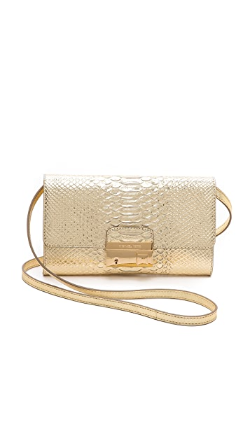 Michael Kors Collection Gia Clutch with Lock