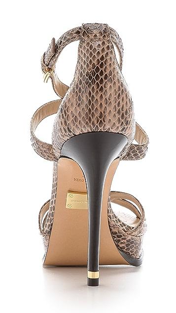 Michael Kors Collection Leandra Snakeskin Sandals