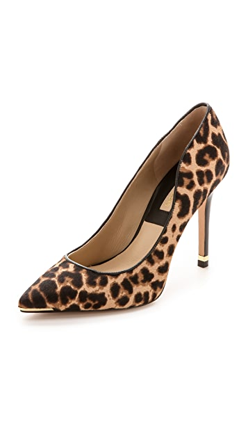 Michael Kors Collection Avra Leopard Haircalf Pumps