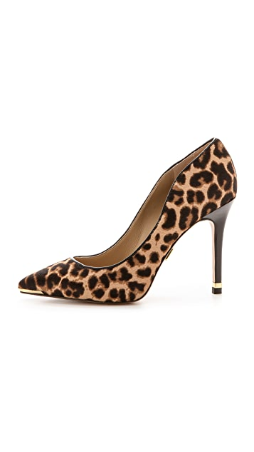 22d38fce6779 ... Michael Kors Collection Avra Leopard Haircalf Pumps ...
