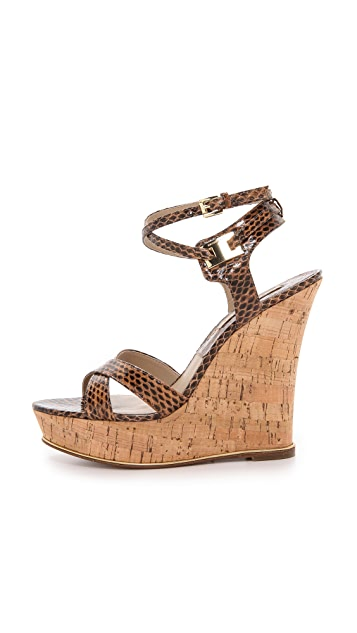 Michael Kors Collection Shana Snakeskin Sandals