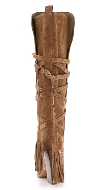 Michael Kors Collection Jessa Suede Wrap Boots