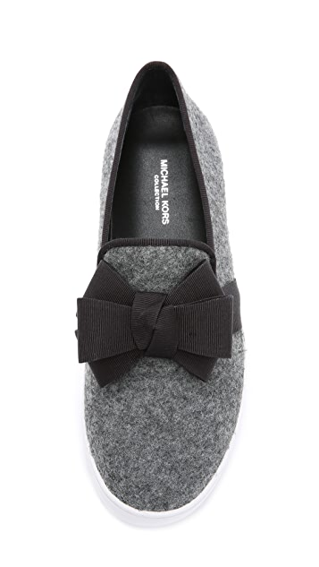 Michael Kors Collection Val Bow Slip On Sneakers