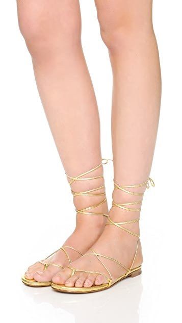 Michael Kors Collection Bradshaw Lace Up Sandals