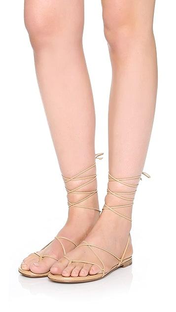 09976adac35c ... Michael Kors Collection Bradshaw Lace Up Sandals ...