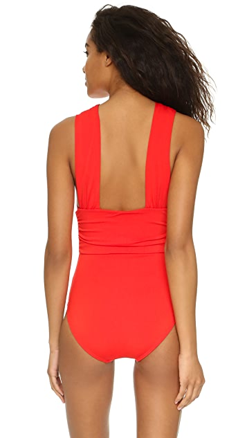 Michael Kors Collection Cross Front Maillot