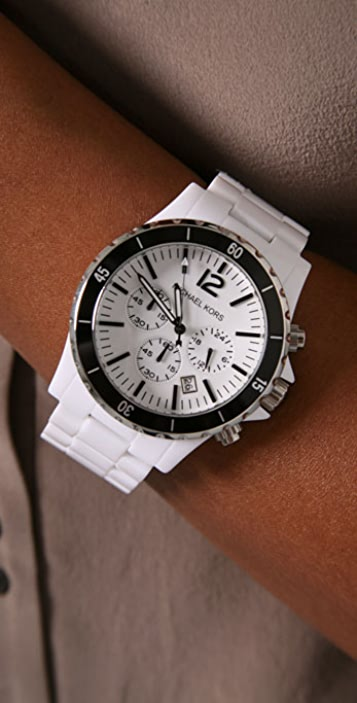 Michael Kors Black Bezel Watch
